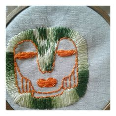 halo. Embroidery