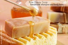 How to Make Raw Honey and Beeswax Shampoo and Body Bars