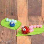 Caterpillar Pom Pom Craft – Spring Craft Ideas
