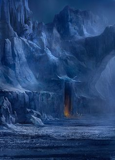 The Art Of Animation, Jonas Åkerlund these look like the gates of Angband in the dread north