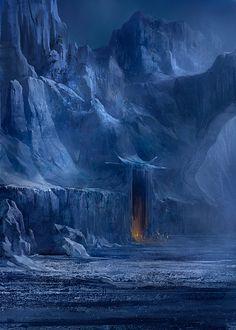 Grotte des glace Orthanc sud de Nolan