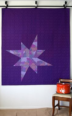 Be-au-tiful Custom Star Quilt by Amy Hodge of Amy ala Mode.