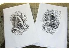 Monogrammed french inspired guest towels