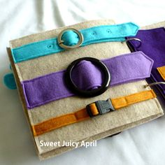 Buckle Quiet Book Page by SweetJuicyApril on Etsy