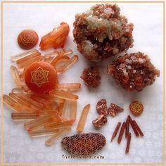 Orange Crystals and Minerals / Photo © www.VioletAura.com