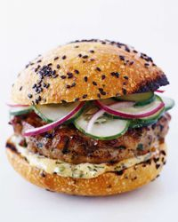 Yum! Thai Tuna Burgers with Ginger-Lemon Mayonnaise Recipe on Food & Wine