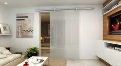 portas de correr para ambientes grandes de vidro transparente