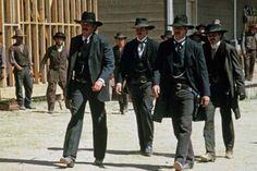 Randy Quaid is Doc and Kevin Costner is Wyatt. Wyatt Earp Kevin Costner, Curly Bill Brocius, Stacy Keach, Orange Quotes, Tombstone Arizona, Doc Holliday, Val Kilmer, Real Cowboys, Kirk Douglas
