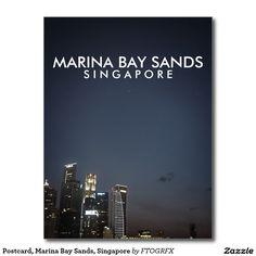 Postcard, Marina Bay Sands, Singapore Postcard