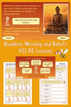 Enlighten your class's knowledge and understanding of the Buddhist religion with this engaging and thought-provoking set of six RE lessons. Buddhist Beliefs, Buddhism, Religious Education, Picture Cards, Guided Meditation, Thought Provoking, Kids Learning, How To Introduce Yourself, Religion