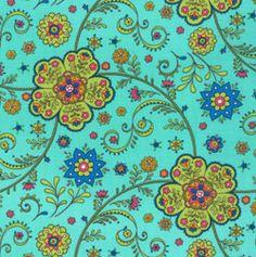 Jacobean Love this new Moda fabric: Summer House Maxine Paisley Bloom