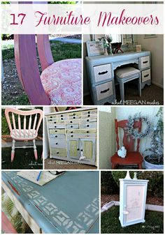 Furniture Makeovers can be as intricate or as simple as you want. You can use your own creativity. Chalk paint, decoupage & stenciling are just a few ideas.