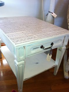 If you're into DIY projects, invest in this unique Decoupage Sheet Music Side Table ($96) or try creating your own. Use sheets from a song that means something to you for an extra personal touch. Another idea: use the sheets as a drawer liner for a more subtle take on the craft.