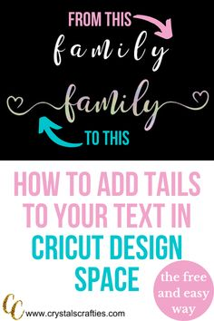 cricut crafts Have you ever wondered how to add tails to text in Cricut Design Space? This tutorial will show you exactly how to add all those beautiful tails along with Cricut Air 2, Cricut Help, Cricut Vinyl, Cricut Banner, Tips And Tricks, Paper Cutting, Vinyl Cutting, Beauty Hacks That Actually Work, Organizing Hacks