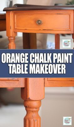 Barcelona Orange Corner Table {with Annie Sloan Chalk Paint
