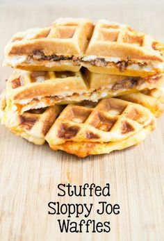 We love getting clever with the waffle iron