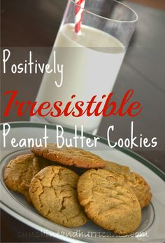 Need to whip up a delicious cookie that is also fast and easy? The Positively Irresistible Peanut Butter Cookies are just the thing! The rich flavor and taste of these simple cookies guarantees you'll (Homemade Butter Cookies) Favorite Cookie Recipe, Best Cookie Recipes, Best Dessert Recipes, Fun Desserts, Real Food Recipes, Delicious Desserts, Yummy Food, Candy Cookies, Yummy Cookies