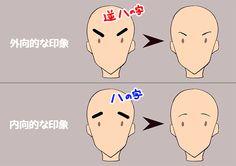 パーツのイメージから考える! キャラクターを描き分ける方法 その4|イラストの描き方    眉の印象で考える    How to Draw Different Characters Part 4: Facial Parts | Illustration Tutorial    The Eyebrows