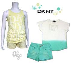 Conjuntos para niña para verano 2014, de DKNY Tommy Hilfiger, Girl Fashion, T Shirt, Tops, Women, Kids Fashion, Fashion Branding, Fashion For Girls, Kid Outfits