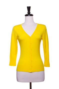 Dressing Your Truth - Type 4 Yellow Cardigan