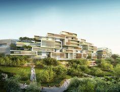 """Imagem 3 de 9 da galeria de """"Great City"""": A primeira cidade para pedestres do mundo estaria na China. © AS + GG"""