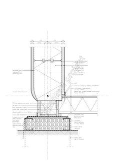 Detail van een strobalen huis. Experimenteel detail van Eco Dorp Bergen