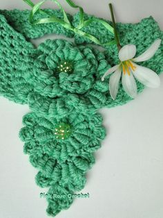 Crochet Bullion Flower Necklace/Scarf? /;)