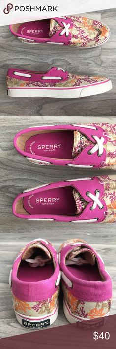 Sperry pink loafer 7 new Sperry pink Loafers 7 new. Removed tags on the inside so may be sticky. Bottom may have debris from trying on. The footbed is memory foam so super comfortable. Please inspect pics carefully Sperry Shoes Flats & Loafers
