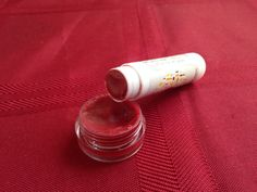 Hot red Mineral lipstick red balm uv filter by HolistickMakeup
