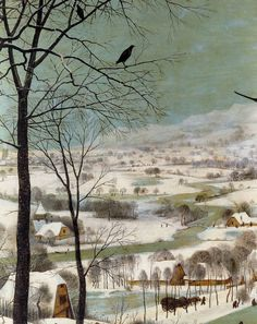 "Hunters in the Snow"" (detail), 1565, Pieter Bruegel the Elder."