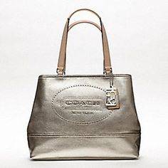 703c967499 HAMPTONS WEEKEND LEATHER PERFORATED MEDIUM TOTE Coach Purses