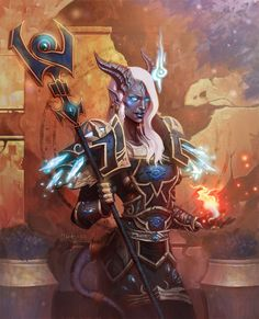 """This is one of the first illustrations I did for World of Warcraft trading card game. It is in the """"War of the Elements"""" set © 2010 Blizzard Entertainment, Inc. All rights reserved"""