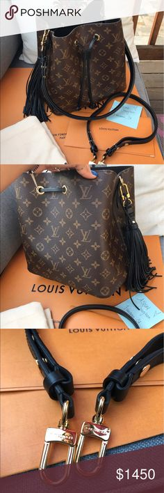 dd662af787e Louis Vuitton Neo Noe ️ay ️al ONLY Black Noir with Monogram print. This  beauty was