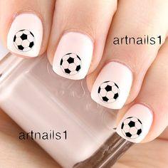Soccer Ball Game Nail Art Nails Polish Sports Team by artnails1