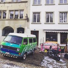 Another great camper spot in Fribourg Switzerland - courtesy of @josielipman #vw #vanlife #camper #vwbus #vwt25 #vanagon #t3 #campervanlife #vwcamper #oldvwclub by casperthecamper
