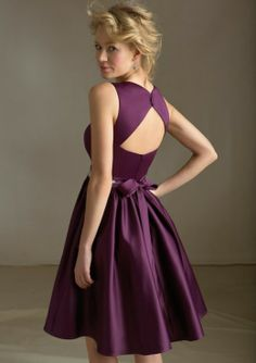 Wedding Bridesmaid Dresses. If I did cream and purple colors, this would be so cute