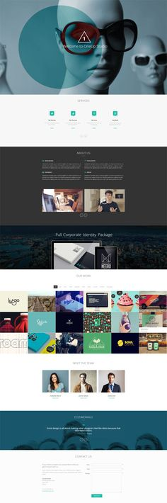 OneUp - One Page Parallax Retina WordPress Portfolio and Agency Theme by Pixelentity
