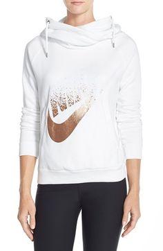Nike 'Rally' Foiled Logo Hoodie   Nordstrom