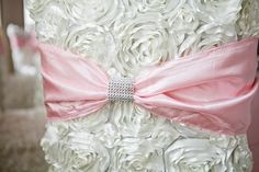 diamond wrap chair sash