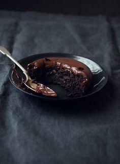 Bolo úmido de chocolate | Chocolate Mud Cakes
