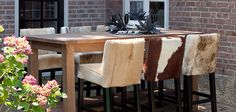 Steigerhouten kantine inrichting van pixels education interior - Cuisin e met bartafel ...