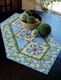 Pretty colors in this Table Runner!  Martingale - Table Toppers (Print version + eBook bundle)