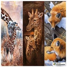 Middle one for Erin - Safari Collection Full Drill Diamond Painting Kit Cross stitching meets paint by numbers! **Diamonds cover the FULL painting. Design is exclusively available f My Dream Car, Dream Cars, Diamond Art, Paint By Number, Pictures To Paint, First Day Of School, Cross Stitching, Giraffe, Lion Sculpture