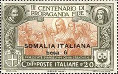 1923 Congregación de Propaganda Fide -francobolli  italiani Somalia - Buscar con Google