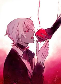 Poisoned Apple. Obviously it's Vanitas who is holding the apple (you can tell from the hand) and feeding it to Noé.