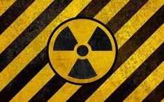 Download wallpapers Sign of radiation, Hazard symbols, 4k, yellow-black grunge, Ionizing radiation, radioactivity