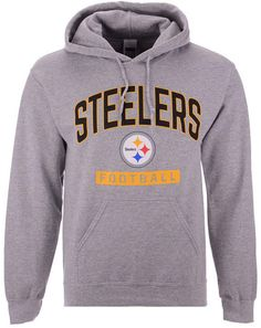 12b15174867 Authentic Nfl Apparel Men's Pittsburgh Steelers Gym Class Hoodie Nfl  Apparel, Gym Classes, Grey