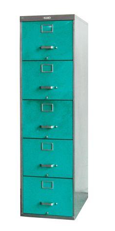 Elegant Five Drawer File Cabinet