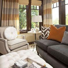 accessorizing a charcoal gray sofa, colors.