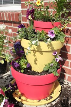 EASY Tiered Planter with your House Number! - Trading Phrases                                                                                                                                                      Más